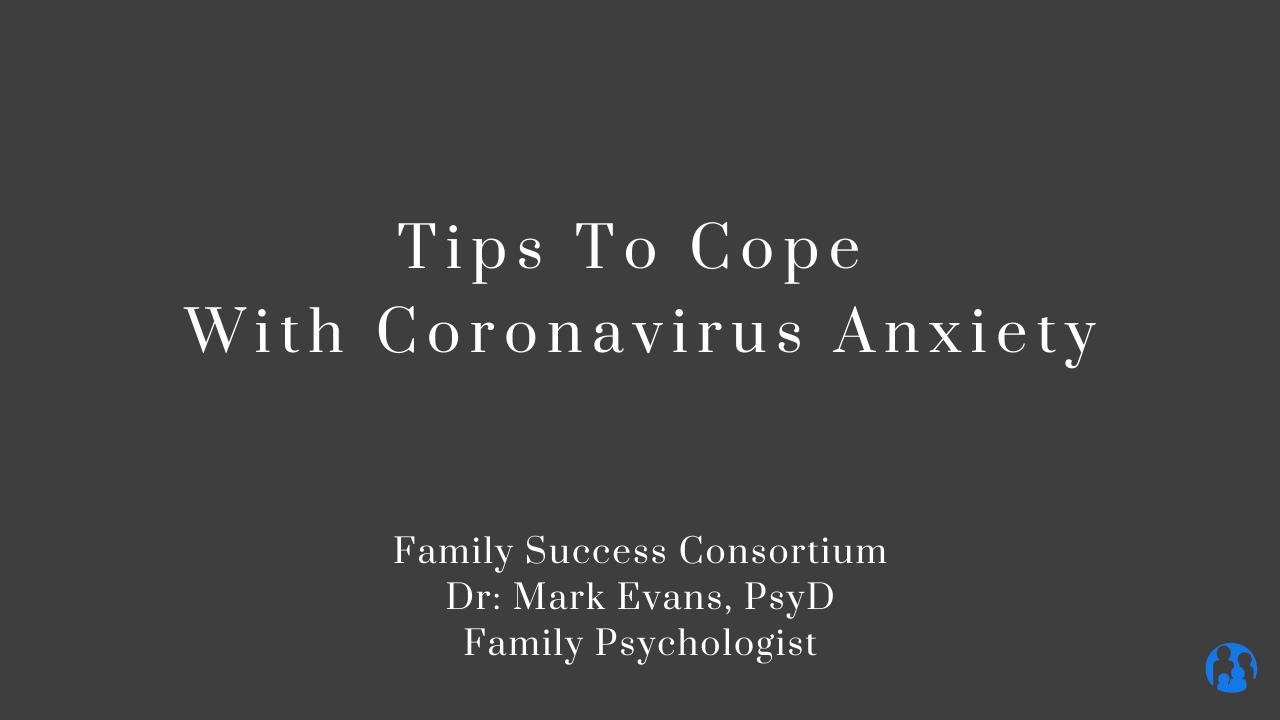 dr. evans tips coronavirus